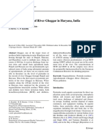 Pesticide Pollution of River Ghaggar in Haryana, India