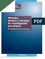 Métodos Diseños y Técnicas de Investigación Psicológica 01