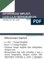 Materi Kuliah Minggu 4-Diferensiasi Implisit, Laju-laju Berhubungan-sabtu-110317