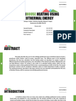 Greenhouse Heating Using Geothermal Energy