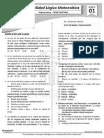 Boletin de RM - 1° SEMANA - 4TO HABILIDAD LÓGICA (Sede Central)