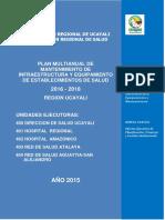 Plan Multianual de Mantenimiento 2016 Diresa Ucayali Consolidado