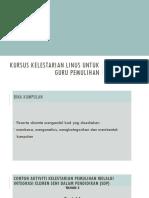 Kursus Kelestarian Linus Johor September 2017
