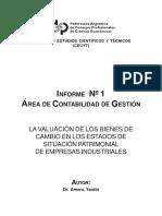 Gestion-1 La Valuacion de Los Bs de Cambio en Los Estados de Sit. Patrimonial de Empresas Industriales