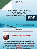 Descripcion de Los Explosivos