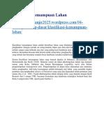 Klasifikasi Kemampuan Lahan.docx