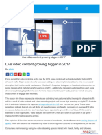 Live Video Content Growing Bigger in 2017