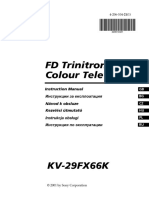 Manual de Utilizare - Sony KV-29FX66K