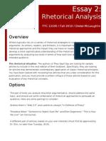 FYC Rhetorical Analysis