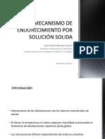 MECANISMO DE ENDURECIMIENTO POR SOLUCIÓN SOLIDA