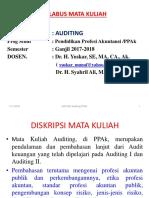 0 17rev 10 2017 Silabus Mk Auditing, PPAk, FEUA