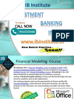Financial Modelling Courses in Delhi - Ibinstitute.in