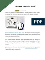 Review Alat Pembesar Payudara MHCA Tiens