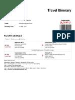 AirAsia Travel Itinerary - Booking No- Shinekhuu