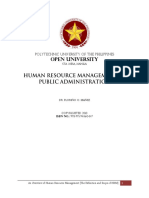Human Resource Management in Public Administration
