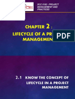 CHAPTER 2 - Lifecycle of a Project Management