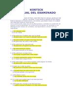 Cuadernillo Del Kostick