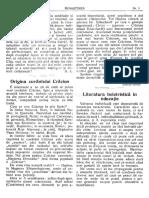 """Literatura Beletristică În Educaţie"""", În Renaşterea, V (1927), Nr. 1, p. 4-6"""