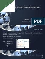 Basic Rules for Derivatives-Gloria