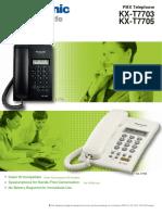 Panasonic KX T7703 T7705 Brochure