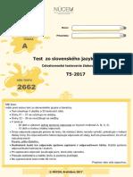 Test zo slovenského jazyka a literatúry (Testovanie 5)