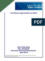 Investment Opportunities in Dubai - April 2010