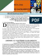Amemos Al Santísimo Sacramento (34) Hora Santa Con San Pedro Julián Eymard.