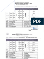 Revised Even Semester Mechanical Engineering Time Table 2017-2018
