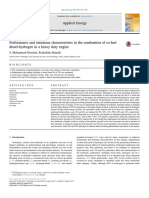 Final-Performance and Emissions Characteristics in the Combustion of Co-fuel