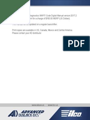 2017 Advanced Diagnostics Usa Mvp Pro t Code Pro Manual Key Guide