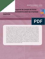 Los efectos del programa de compra de bonos corporativos del Eurosistema sobre las empresas españolas