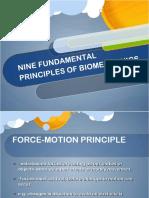 Nine Fundamental Principles of Biomechanics