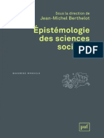 Epistemologie Des Sciences Sociales