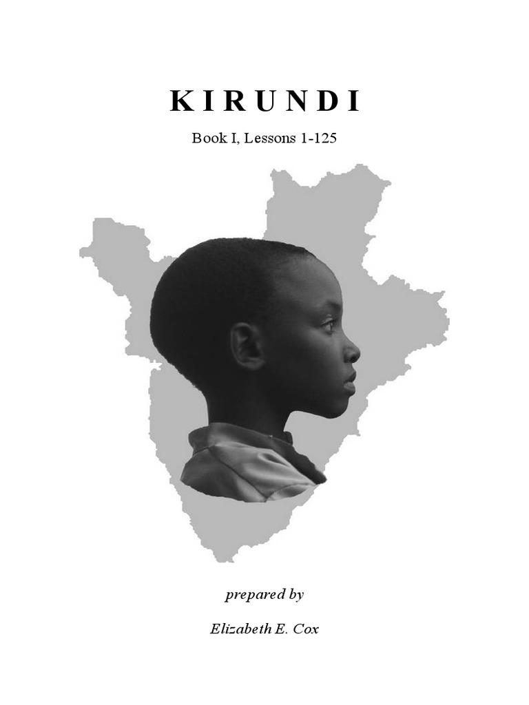 Kirundi Book 1 E E Cox Revised | Plural | Tone (Linguistics)