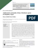 1-Antibacterial Carotenoids of Three Holothuria Species