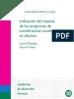 Evaluacion de Progrmas de Transferencias Condicionadas Laura Rawling Gloria Rubio 2005