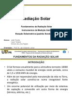 Trabalho 1 – Radiação Solar