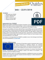 Quidos Technical Bulletin - 22/01/2018