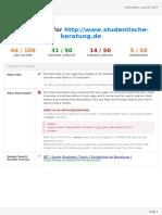 Seositecheckup Report for Www.studentische Beratung.de on 2017 09-09-07!37!38