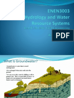 Lecture 7 Groundwater