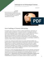 Utilización de La Radiología en La Antropología Forense