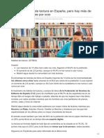 20minutos.es-mejora El Índice de Lectura en España Pero Hay Más de Un 40 Que No Lee Por Ocio