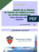Gestion Calidad Niveles Educativos Grupo-Marin