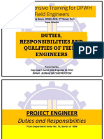 Duties Responsibilities Qualities of Field Engineers