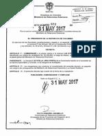 Decreto 922 Del 31 de Mayo de 2017