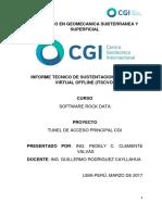 Informe Tunel ROCK DATA