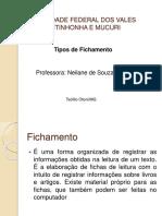 Orientações - Elaboração de Fichamento