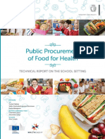 Public Procurement Food Health Technical Report