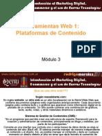 Modulo3 - Herramientas Web1 - Plataformas de Contenido