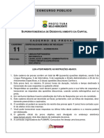 Caderno 11 - Engenheiro Agrimensura-SUDECAP FUMARC
